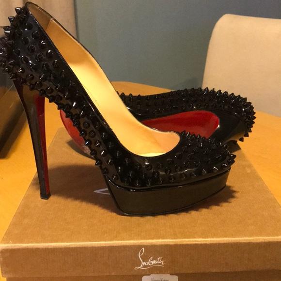 ec10de99424 Christian Louboutin Shoes - BIANCA SPIKES PATENT CHRISTIAN LOUBOUTIN -SZ   39.5